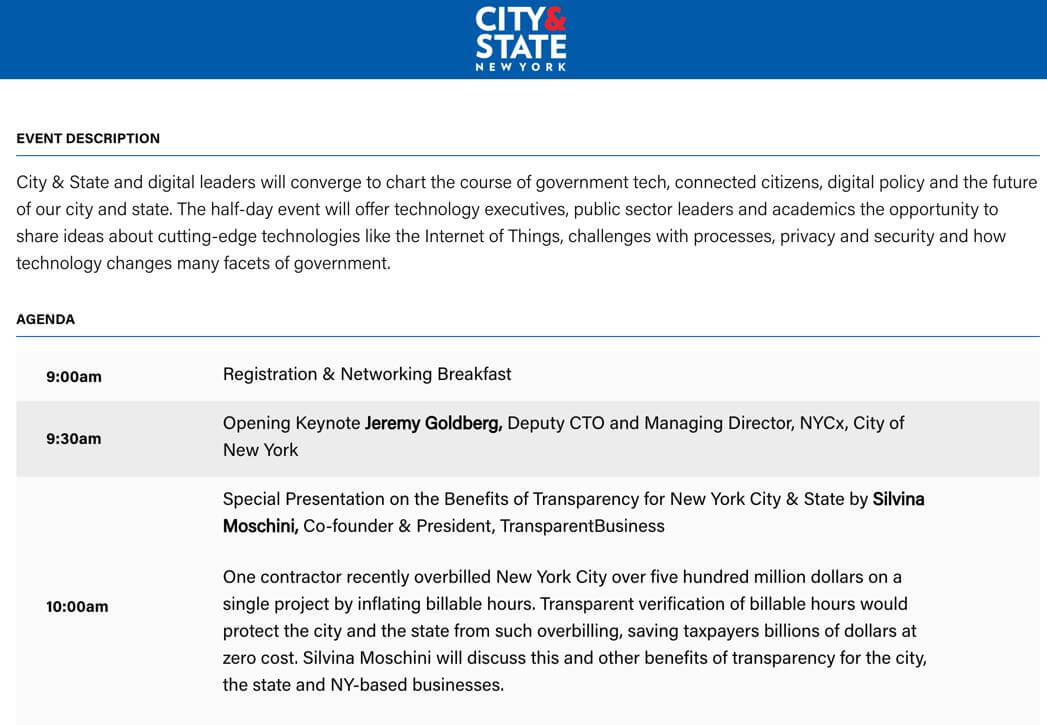 NY Tech and TransparentBusiness