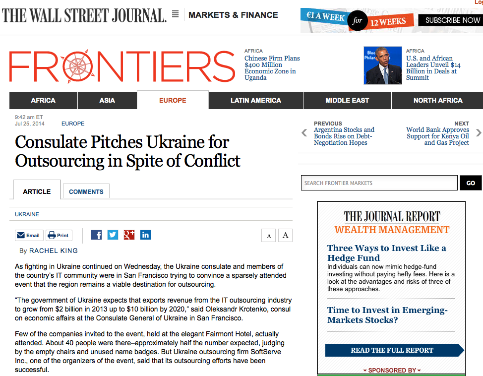 Consulate Pitches Ukraine