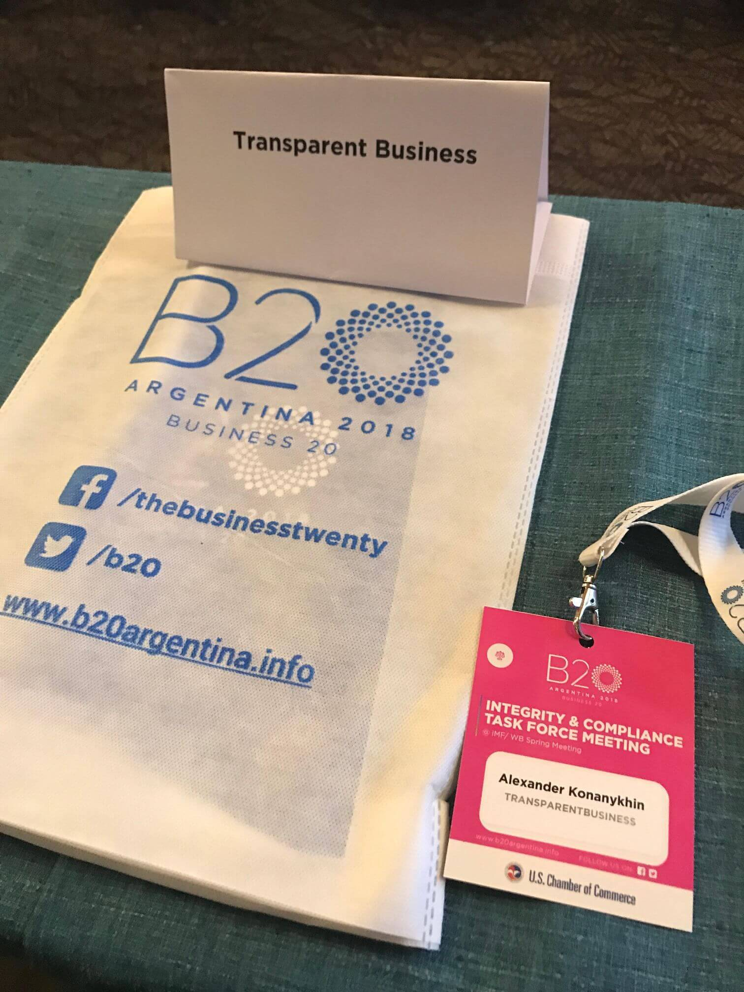 A TransparentBusiness recommendation to G20 leaders.