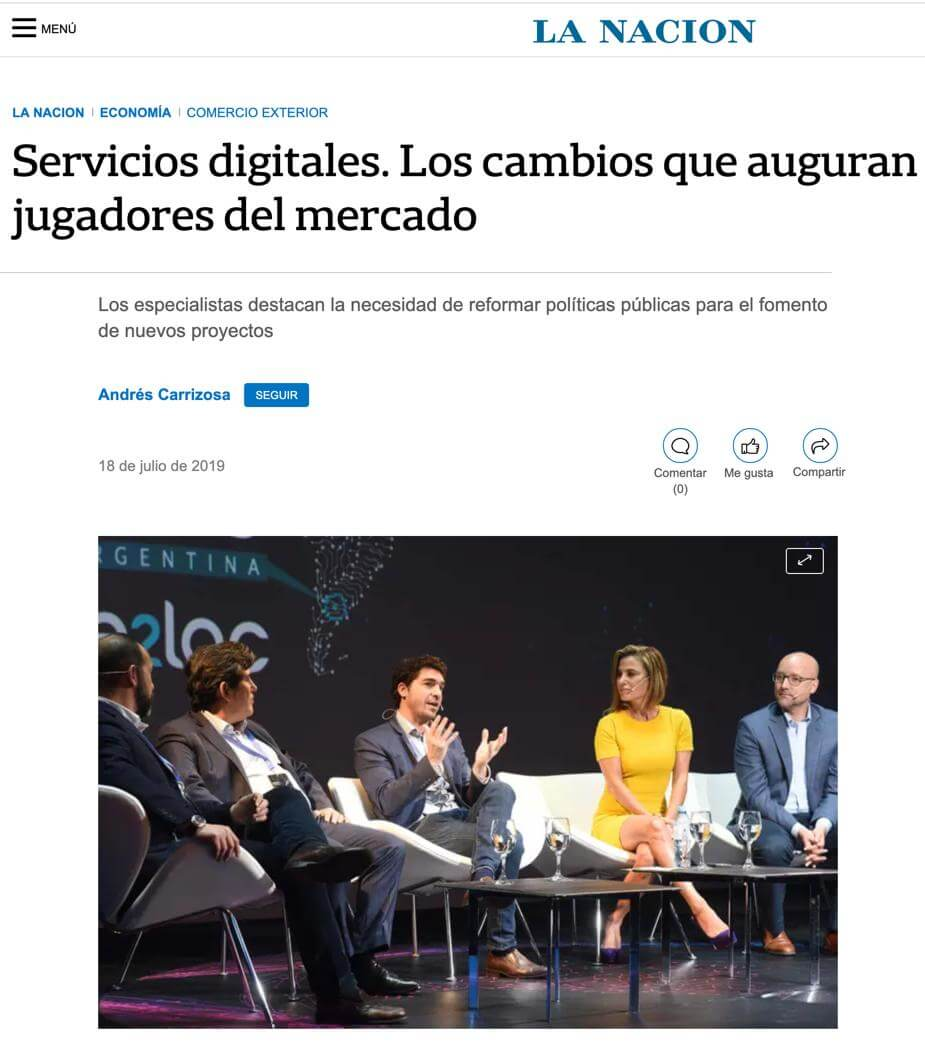 La Nacion included Silvina in its review part 1