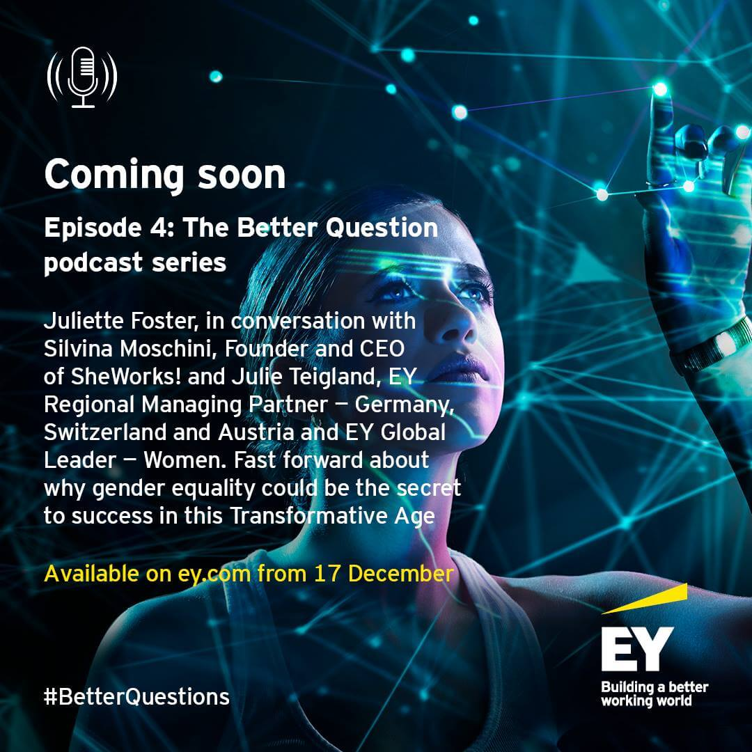 EY distributed the invitation to their podcast with our President Silvina Moschini