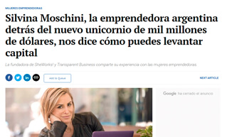 Silvina Moschini, the Argentine entrepreneur behind the new billion dollar unicorn, tell us how to raise capital